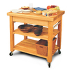 Catskill Craftsmen 24-in L x 36-in W x 36-in H Northeastern Hardwood/Oiled Kitchen Island with Casters