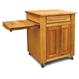 Catskill Craftsmen 26-in L x 47-in W x 36-in H Natural Birch with Oiled Finish Kitchen Island with Casters