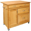 Catskill Craftsmen 40-in L x 26 1/2-in W x 34 1/2-in H Natural Kitchen Island
