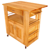 Catskill Craftsmen 27-1/2-in L x 34-in W x 34-1/2-in H Northeastern Hardwood/Oiled Kitchen Island