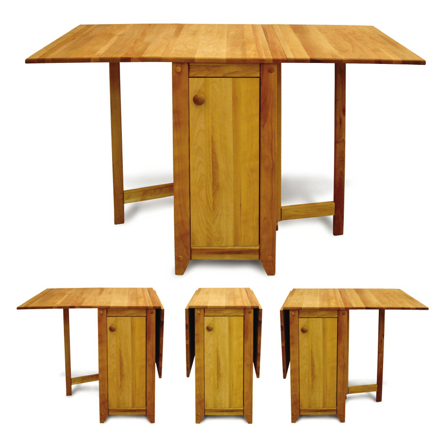 Shop catskill craftsmen drop leaf kitchen fold away island at - Fold away kitchen island ...