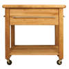 Catskill Craftsmen 24-in L x 36-in W x 35-in H Northeastern Hardwood/Oiled Kitchen Island with Casters