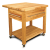 Catskill Craftsmen 34-in L x 36-in W x 35-in H Northeastern Hardwood/Oiled Kitchen Island