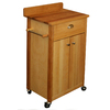 Catskill Craftsmen 23.5-in L x 16-in W x 37-in H Natural Kitchen Island with Casters