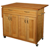 Catskill Craftsmen 40-in L x 26.5-in W x 34.5-in H Natural Kitchen Island with Casters