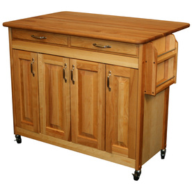 Catskill Craftsmen 44-3/8-in L x 28-in W x 34-1/2-in H Natural Kitchen Island