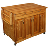 Catskill Craftsmen 44.375-in L x 30-in W x 34.5-in H Natural Kitchen Island with Casters