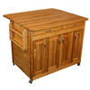 Catskill Craftsmen 44.375-in L x 38-in W x 34.5-in H Natural Kitchen Island with Casters