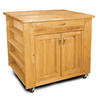 Catskill Craftsmen 24-in L x 40-in W x 34.5-in H Northeastern Hardwood/Oiled Kitchen Island with Casters