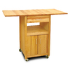 Catskill Craftsmen 20-in L x 40-in W x 35.5-in H Northeastern Hardwood/Oiled Kitchen Island with Casters