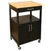 Catskill Craftsmen 17-1/2-in L x 23-1/2-in W x 34-1/4-in H Black Kitchen Island