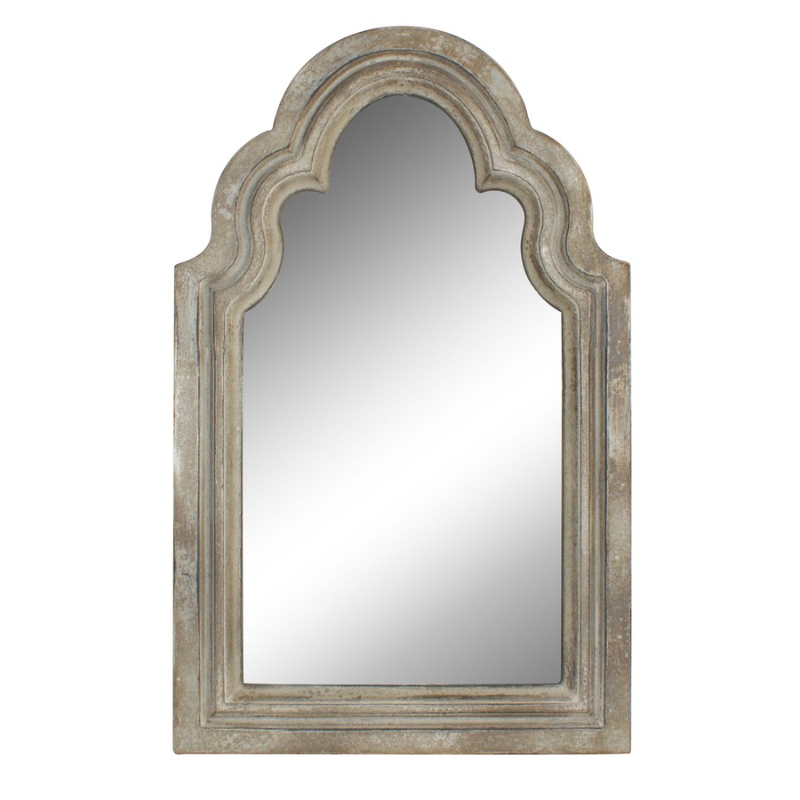 Shop style selections 15 in x 24 in off white arch framed for White framed mirror