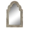 Style Selections 15-in x 24-in Off-White Arch Framed Mirror