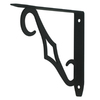 Style Selections 5-3/8-in x 3/4-in Black Decorative Shelf Bracket
