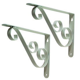 Style Selections 6-1/2-in x 1-in White Decorative Shelf Bracket