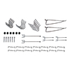 Blue Hawk 32-Pack Locking Peghook Assortment