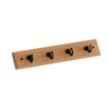 Style Selections Zinc Alloy and Solid Wood Garment Hook