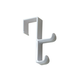 Style Selections White Over Door Double Hook