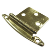 Style Selections 2-Pack 2-3/4-in x 1-3/4-in Brass Plated Flush Cabinet Hinges