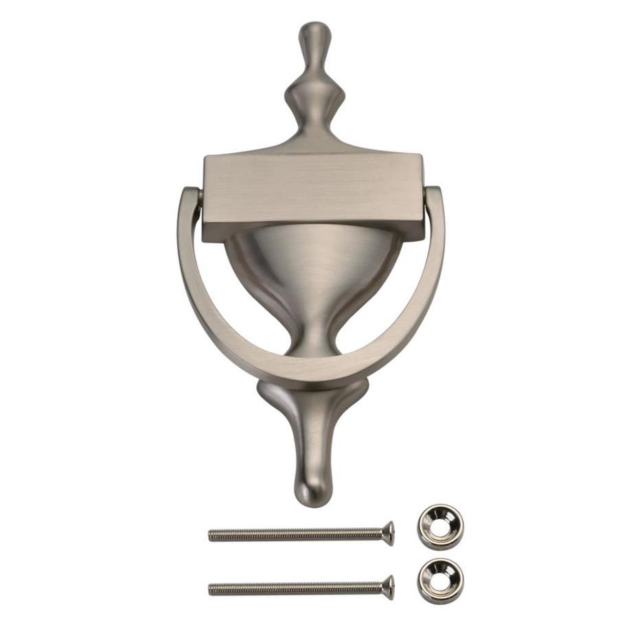 Shop stanley national hardware 7 satin nickel door knocker at - Door knocker nickel ...