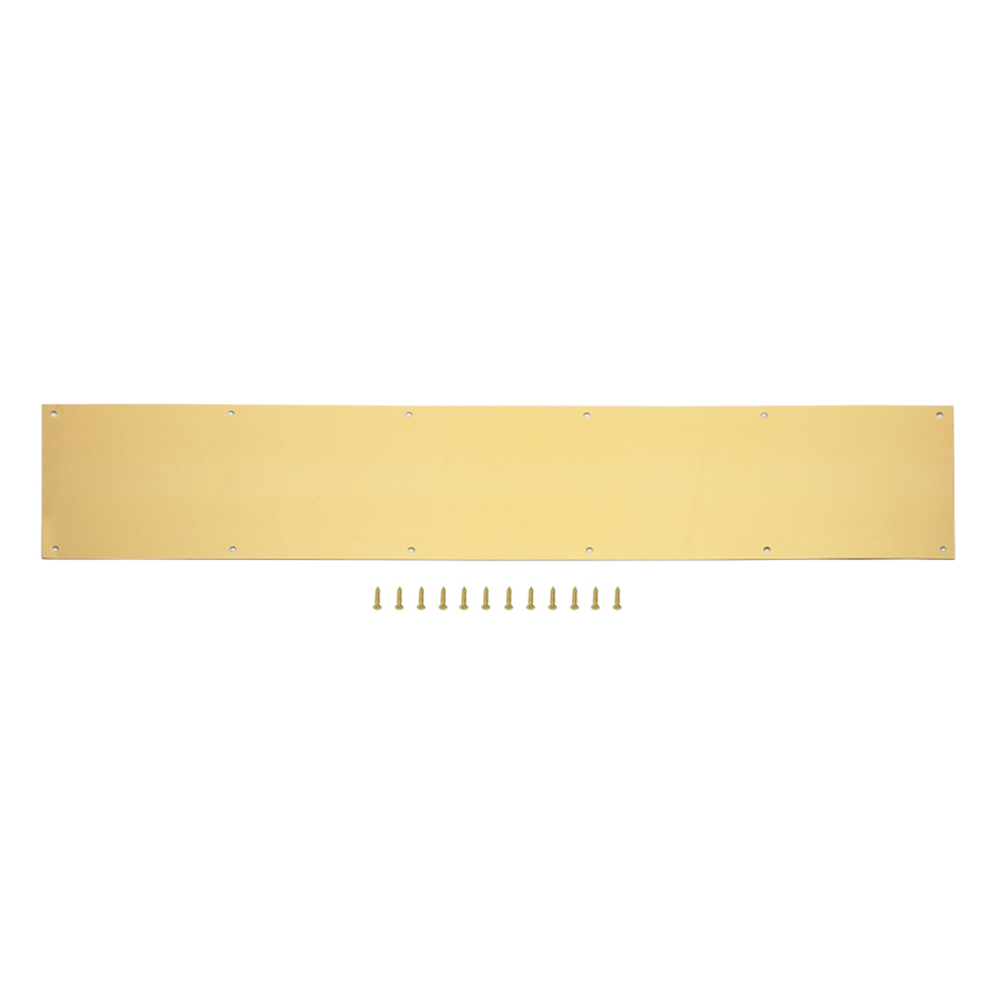 Brass Kick Plates For Exterior Doors Shop National 34 In