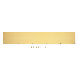 Shop Gatehouse X Brass Plated Entry Door Kick Plate At