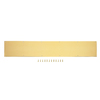 Gatehouse 7.99-in x 33.98-in Brass-Plated Entry Door Kick Plate