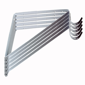 Style Selections Steel 12.8-in x 0.94-in White Shelf Bracket