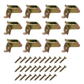 Style Selections 40-Pack Brass T-Shaped Shelf Clips