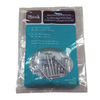 Style Selections White Double Track Bracket Screws