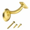 Gatehouse Polished Brass Handrail Bracket