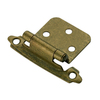 Style Selections 2-Pack 2-3/4-in x 1-3/4-in Aged Brass Self-Closing Flush Cabinet Hinges