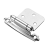 Style Selections 2-Pack 2-3/4-in x 1-3/4-in Chrome Plated Self-Closing Flush Cabinet Hinges