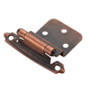 Style Selections 2-Pack 2-3/4-in x 2-1/8-in Aged Bronze Self-Closing Flush Cabinet Hinges