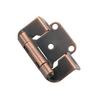 Style Selections 2-Pack 2-1/4-in x 1-1/2-in Aged Bronze Self-Closing Flush Cabinet Hinges