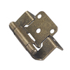 Style Selections 2-Pack 2-1/4-in x 1-1/2-in Aged Brass Self-Closing Flush Cabinet Hinges