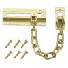 Gatehouse 3.33-in Polished Brass Slide Bolt Entry Door Chain Guard