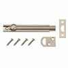 Gatehouse 4-in Satin Nickel Slide Bolt Entry Door Chain Guard