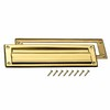 Gatehouse Brass Plated Mail Slot with Mounting Hardware