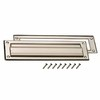 Gatehouse Satin Nickel Letter Box Slot with Mounting Hardware
