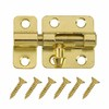 Gatehouse 2&#034; Brass Plated Window Bolt with Screws