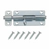 Gatehouse 4&#034; Zinc Plated Barrel Bolt with Screws