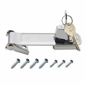 Gatehouse 4-1/2&#034; Chrome Plated Locking Hasp with Screws
