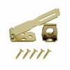 Gatehouse 2-1/2&#034; Brass Plated Safety Hasp