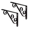 Style Selections 6-1/2-in x 1-in Decorative Shelf Bracket