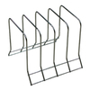 Style Selections Chrome Stairstep Rack