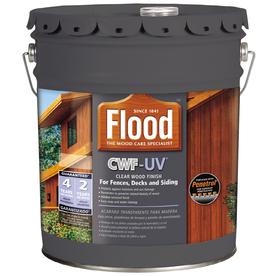 Shop Flood 5 Gallon Transparent Exterior Stain At