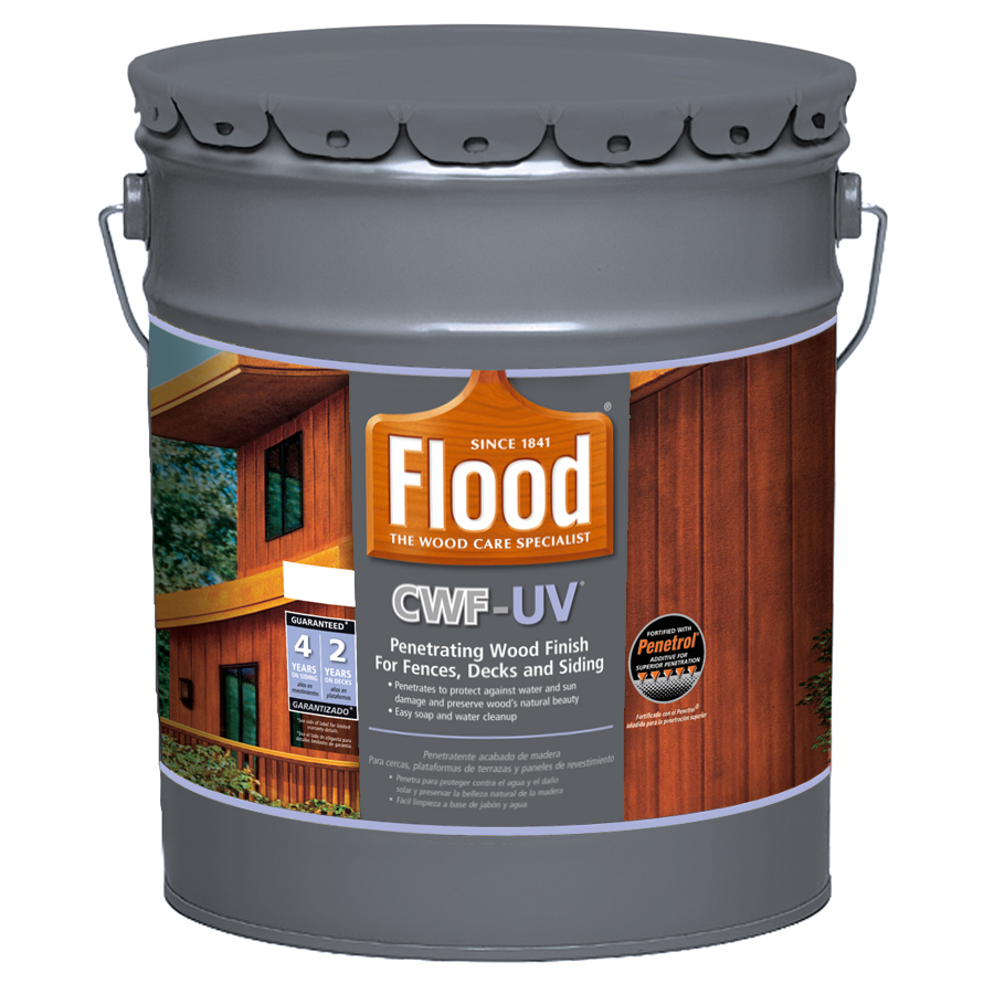 shop flood cwf uv 5 gallon size container pre tinted cedar toner exterior stain actual net