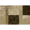 Style Selections Brown and Green Rectangular Indoor Tufted Throw Rug (Common: 3 x 4; Actual: 30-in W x 48-in L)