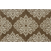 Style Selections 30-in x 46-in Rectangular Tan Transitional Accent Rug